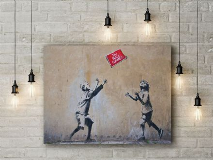Banksy: No Ball Games. Fine Art Canvas.